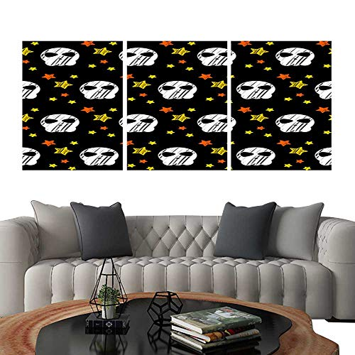 UHOO Pictures Paintings on Canvas WallHappy Halloween Abstract Seamless Pattern Background Abstract Halloween Pattern for Design Card Party Invitation Poster Album menu t Shirt Bag Print etc 4. Brick