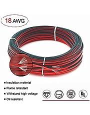 Cable de extensión Alambre 66ft 20m 18AWG 300V Cable de CA para 3528 LED Franja (18AWG 20M)