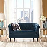 Modway Prospect Upholstered Contemporary Modern Loveseat In Azure