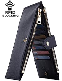 Womens Walllet RFID Blocking Bifold Multi Card Case...