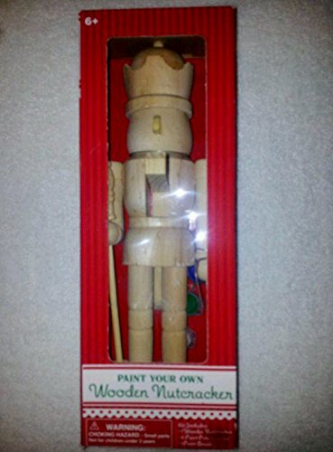 11 and 1/2 Inch Tall Paint Your Own Wooden Nutcracker