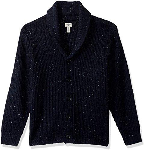 Dockers Men's Full Zip Cotton Shawl Collar Cardigan, Navy, Large