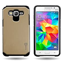CoverON® for Samsung Galaxy Grand Prime Hybrid Case [Slim Guard Series] Protective Full Body Shockproof Tough Thin Phone Cover - Gold / black …