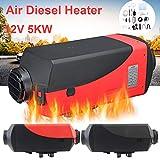 Dreamyth- Air Diesel Heater Parking Heater LCD Display 5KW 12V /24V for Trucks Boat Car Trailer Practical (Black, 12V)