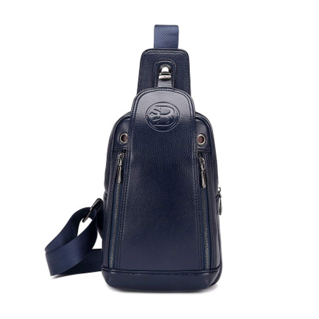 Color : Black RABILTY Men Shoulder Bags Crossbody Bag Chest Bag Embossing Messenger Bag Small Backpack Cycling Carry Bag