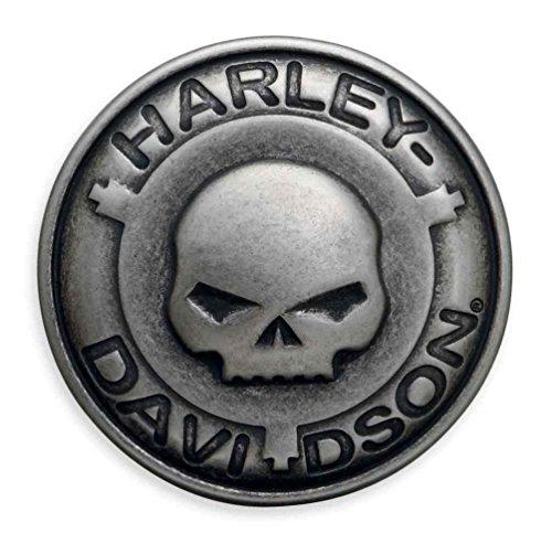 Harley-Davidson Men's Willie G Skull Belt Buckle, Antique Finish - Buckle Finish Belt Antique