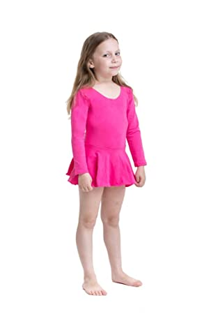 Maillot de Ballet de Manga Larga con Falda para niñas - Maillot ...