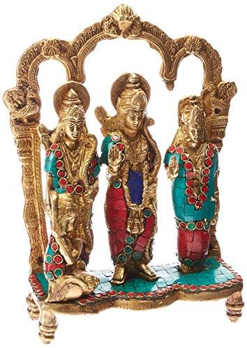 (AapnoCraft Brass Ram Darbar Sculpture - Hindu God Rama(Ram) Family Statue Gods Figurine Home/Temple/Shrine Decor)