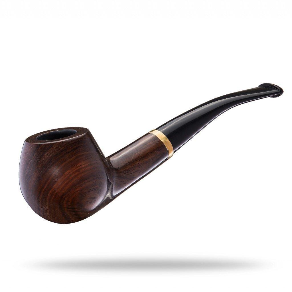 NingTeng Filtros de bolsa clásico de madera de ébano fumar pipa para el tabaco Handcrafted pipas de tabaco ebenine