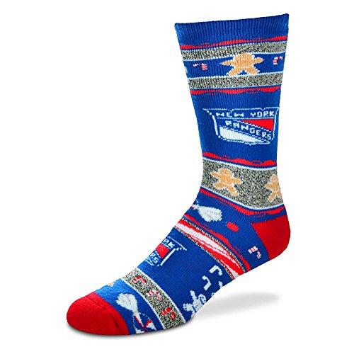 [For Bare Feet New York Rangers Ugly Christmas Xmas Holiday Sports Socks] (Florida Themed Costumes)