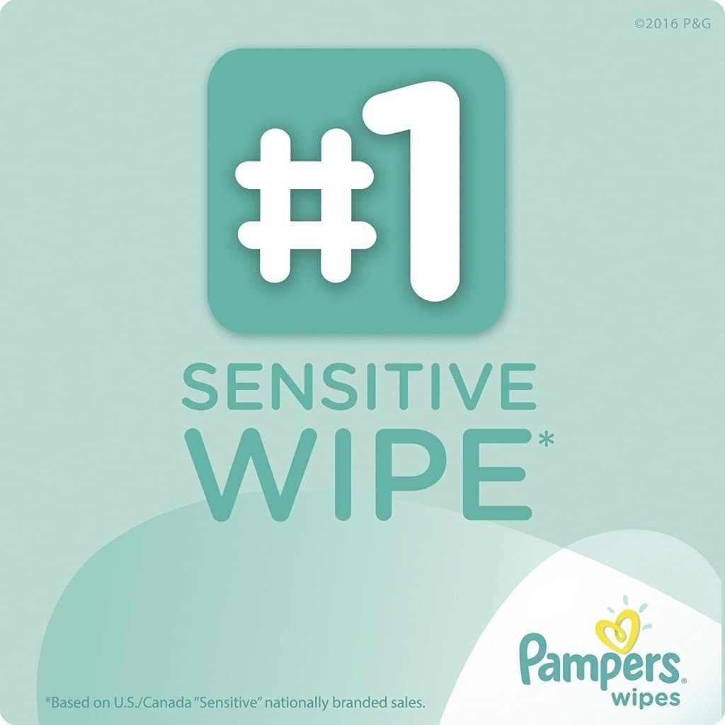 1Tub//3Refills//256 Count, Sensitive Pampers Baby Wipes Tub 64 Wipes//Tub Sensitive