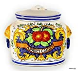 MAJOLICA: Oval canister ''ARANCI:e Candite'' [Candied Oranges] [#BA23]