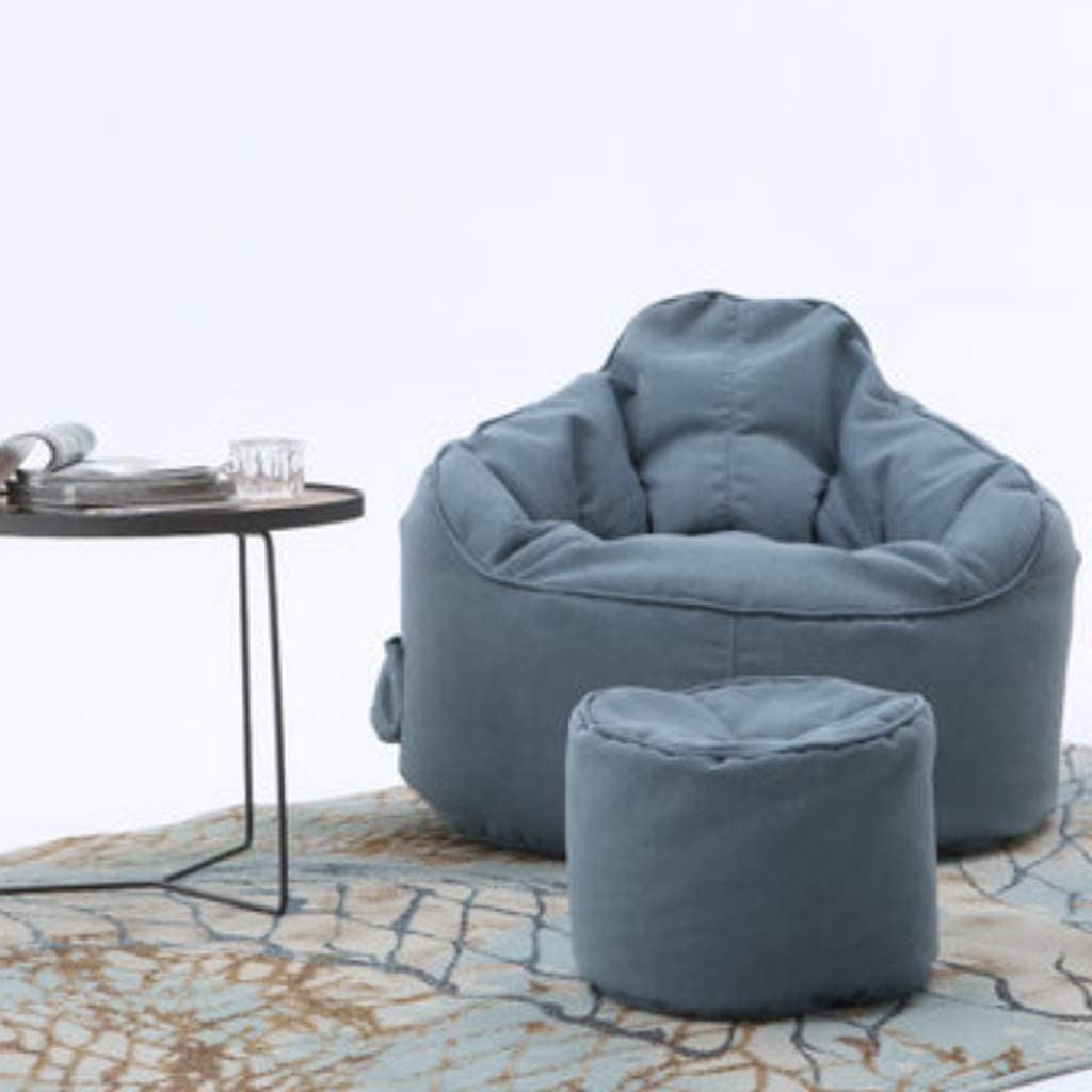 Sofá perezoso - bolsa de frijoles sofá perezoso sala de estar sofá individual dormitorio sillón tatami sillón perezoso r (Color : Blue gray)