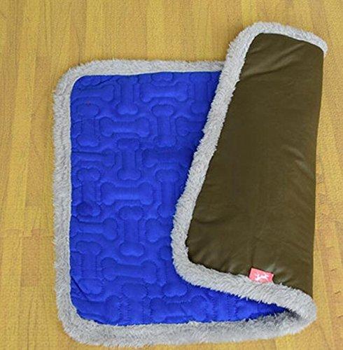 promozioni Znyo Coperta da Letto per Animali Domestici Letto Letto Letto a Due posti Pet Dog Cats Puppy Pad Cushion Bed (Blu, M)  alta qualità