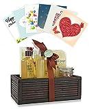 Pinkleaf Green Tea Argan Oil Bamboo Spa Bath Gift Set, Spa Basket,