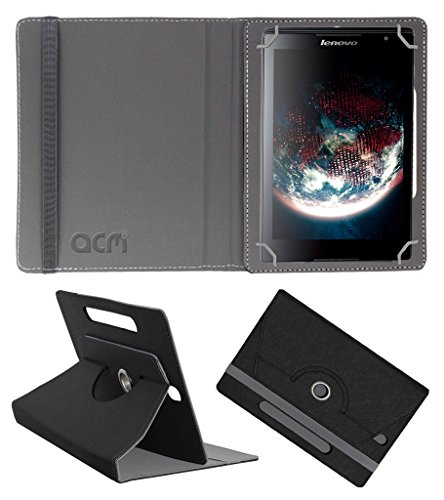 Acm Designer Rotating Leather Flip Case Compatible with Lenovo Tab S8 Tablet Cover Stand Black