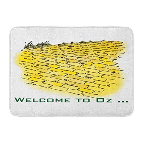 Wizard Of Oz Door - Custom Doormats Vintage Wizard oz Yellow Brick Road Denslow Home Door Mats 16 x 24 inches Entrance Mat Floor Rug Indoor/Outdoor/Front Door/Bathroom Mats Rubber Non Slip