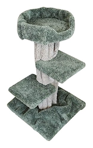 New Cat Condos 110018 Cat Tree, Beige/Green Review