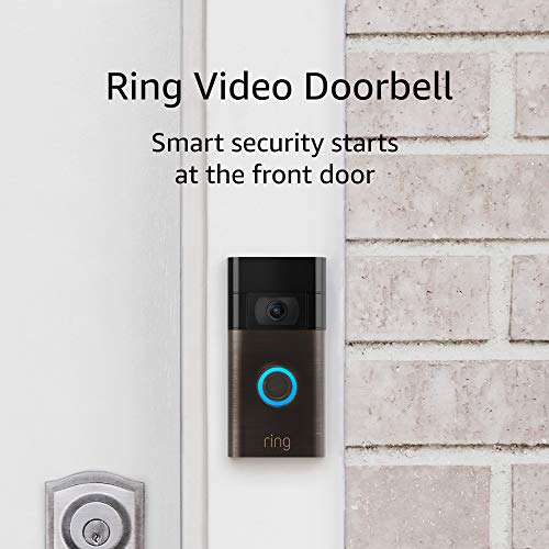 Ring Video Doorbell – 1080p HD video, stepped forward movement detection, simple set up – Venetian Bronze (2020 unlock)