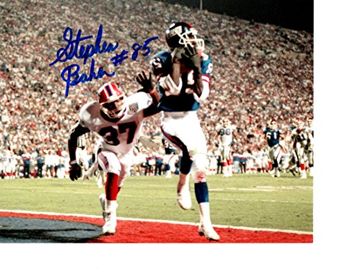 Giants 8x10 Picture - New York Giants Stephen Baker signed 8x10