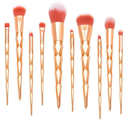 Qivange Foundation Highlighter Face Cosmetic Brushes Unicorn Makeup