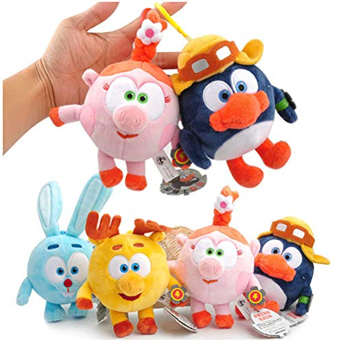 LQT Ltd 2pcs - 15-20cm Russian Cartoon Malyshariki Smeshariki Stuffed Animals Plush Toys Pendant Toy for Children Kids Gifts (VER) ()