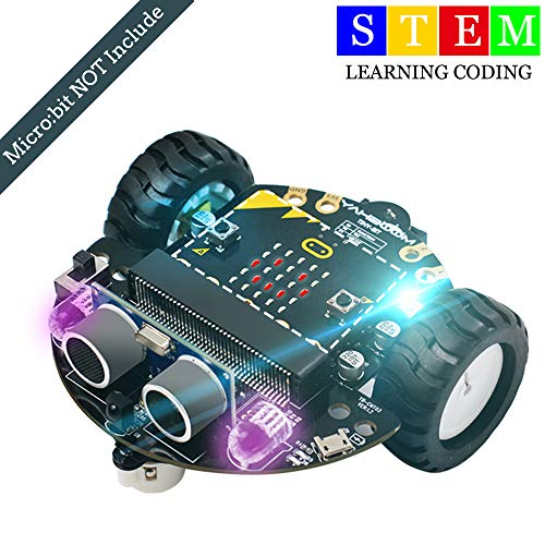 Yahboom Robot Toy Car for Micro:bit Learning Coding STEM Education Science Kit for Kids(Without Micro:bit)
