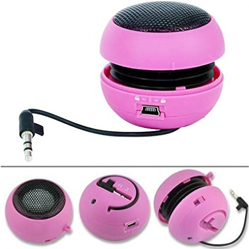 (Wired Portable Universal Loud Speaker Pink Multimedia Audio System Rechargeable Compatible with Motorola Moto G7, G7 Power, G7 Play)