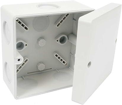 Kopos - Caja de conexión caja de conexiones ip66 ksk 100 101x101x64mm para lugares húmedos gris claro: Amazon.es: Bricolaje y herramientas