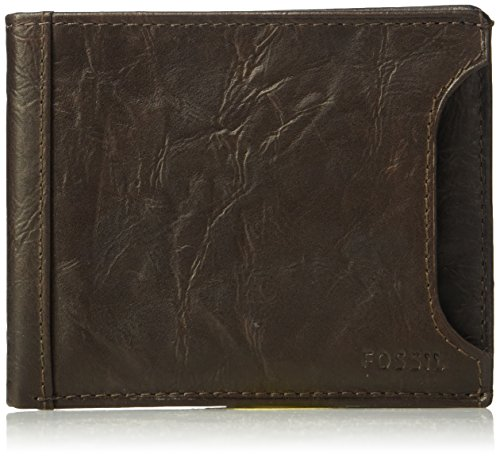 Fossil Men's Sliding 2 in 1 Wallet, Brown, One ()