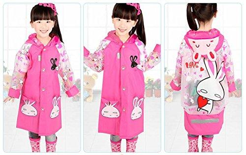 1pezzi bambini ragazza pioggia giacca impermeabile plastica coniglio aspirante pioggia cappotto giacca abbigliamento LANANTS