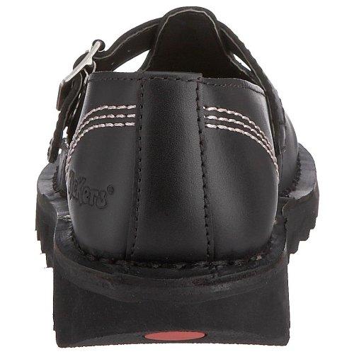 Kickers Kick Lo T W Core, Scarpe Modello Mary Jane da Donna, colore nero (black/pink/black), taglia 38 (5 UK)