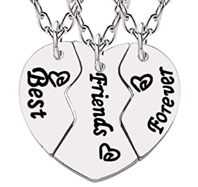 Lovelegis Tres Collares Best Friends Forever - BFF - Corazón ...