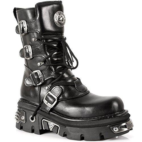 New Rock Boots - Unisexo Botas Estilo 373 S4 Negro