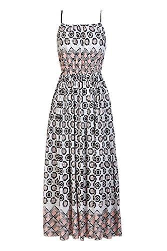SIYAFUSHI Womens Hawaiian Vintage Sling Print Bohemian Maxi Dress for Women Casual Summer