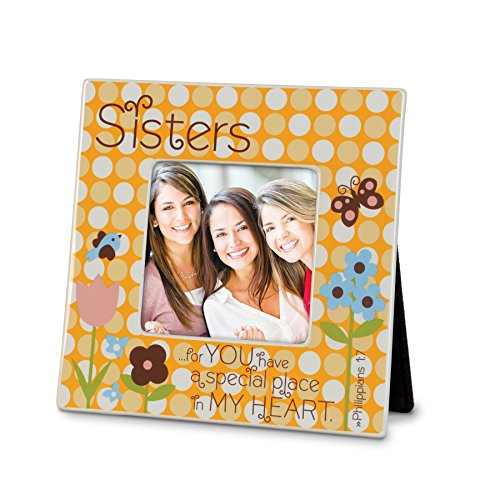 Lighthouse Christian Products Sisters Dots Ceramic Frame, 4 x - Frame Dot Ceramic