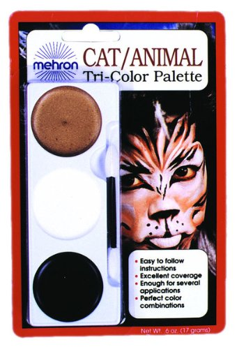 [Mehron Tri Color Palette Cat Animal Makeup Accessory] (Group Animal Costumes)