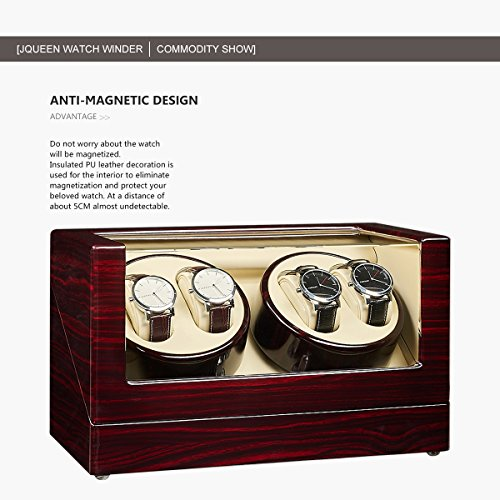 JQUEEN Automatic Quad Watch Winder with Double Quiet Mabuchi Motors by JQUEEN (Image #4)