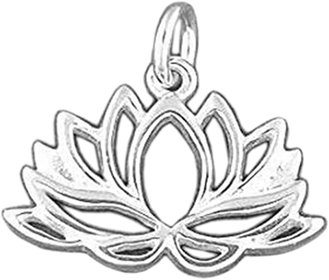 Amazon Com 925 Sterling Silver Lotus Flower Charm Yoga Meditation Pendant Jewelry Making Supply Pendant Charms Bracelet Diy Crafting By Wholesale Charms
