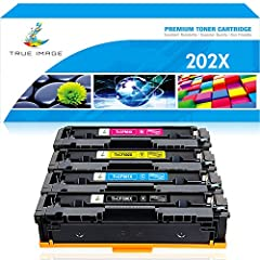 True Image Compatible Toner Cartridge Replacement for HP 202X CF500X CF500A 202A HP M281fdw M254dw Toner HP Color LaserJet Pro MFP M281fdw M281cdw M254dw M254nw M254 M281 CF501X CF502X CF503X Printer for HP 202A CF500A CF501A CF502A CF503A To...