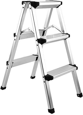 GXQ Escalera Taburete Escalera Grosor de Aluminio Escala 3 escaleras Plegable andamio Plegable en Acero Inoxidable Interior Herringbone escaleras electrodomésticos Carga 150 kg, 3 Steps: Amazon.es: Hogar