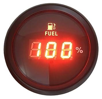 KUS Fuel Gauge Boat Marine Truck Car RV Oil Tank Level Indicator 52mm 0-190ohms