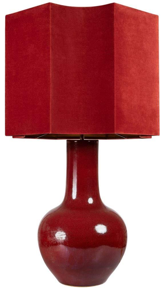 Casa-Padrino lámpara de Mesa de Porcelana de Lujo roja 50 x ...
