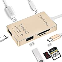 USB C Hub,USB to USB/HDMI Adapter With Type C Charging Port, HDMI 4K Output, TF SD Card Reader, 2 USB 3.0 Ports for New Macbook 6 in 1