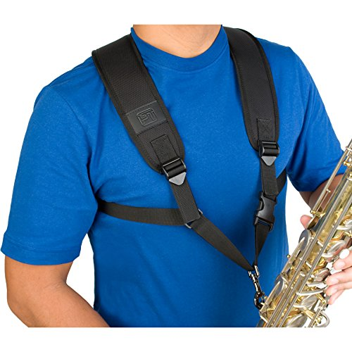 Protec Saxophone Harness with Deluxe Metal Trigger Snap, Large, Model A306M ()