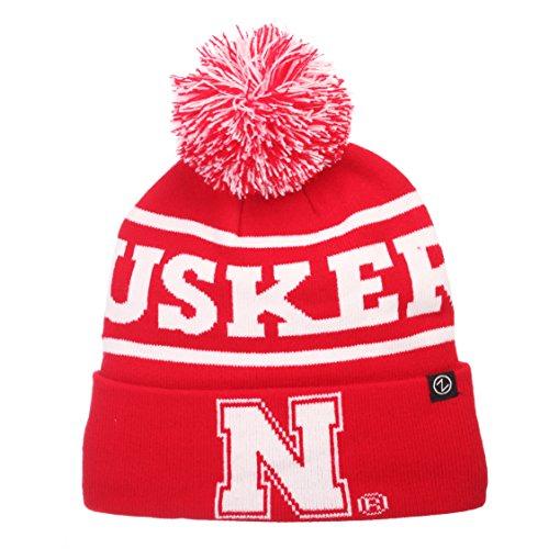 Zephyr NCAA Nebraska Cornhuskers Men's Bandit Knit Beanie, One Size, Team Color ()