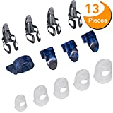 #8: Guitar Starter Kit Includes 8 Pieces Guitar Thumb & Finger Picks (Metal and Blue Celluloid), 5 Pieces Clear Guitar Finger Protectors