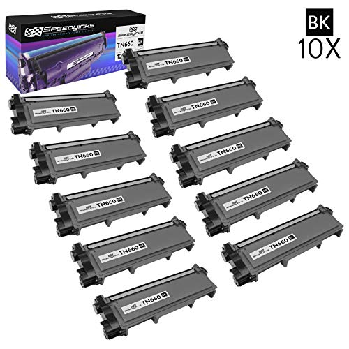 Speedy Inks Compatible Toner Cartridge Replacement for Brother TN660 High-Yield (Black, 10-Pack)