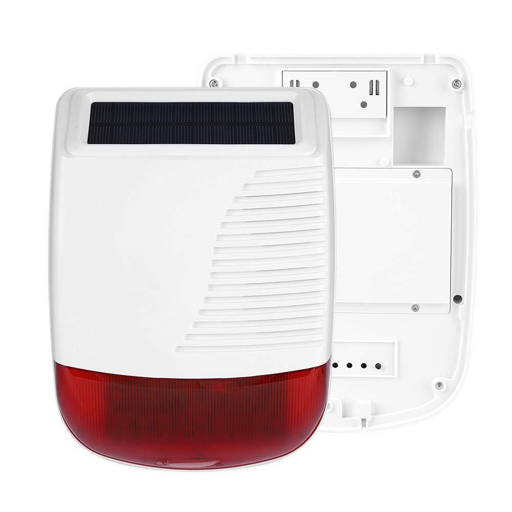 Adecuada para la instalaci/ón en la Oficina de su Patio o en el hogar Zyyini La Alarma inal/ámbrica la Alarma Solar para Exteriores Tiene Sonido y Flash