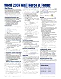 Microsoft Word 2007 Mail Merge and Forms Quick Reference Guide (Cheat Sheet of Instructions, Tips and Shortcuts - Laminated Card), Beezix Inc, 1934433586